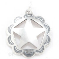 Texas Star Western Jewelry .925 Charm Pendant 925 Sterling Silver