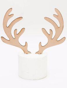 MDF wood rustic style Christmas reindeer antlers cake ...