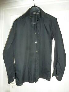 Diplomatisch Chevalier Neuss Herren Hemd Schwarz Tailliert Gr. 39 60er ? Kult Retro Vintage Rheuma Lindern