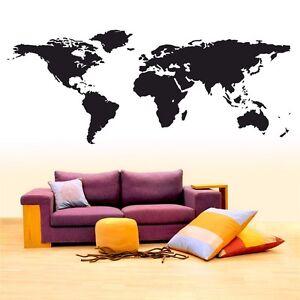 Details zu Wandtattoo Weltkarte günstig World Map Wall Sticker Wand  Aufkleber Welt Erde -XL