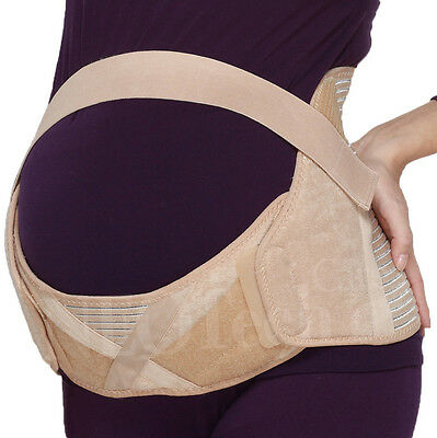 Maternity Belt, Abdomen Support, Pregnant Belly Brace, Girdle - Beige Color