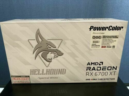 PowerColor RADEON RX 6700XT Hellhound Spectral White 12GB From JAPAN