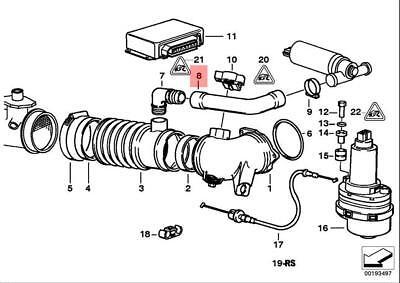 METZGER Brake Hose For BMW E31 E38 E39 90-04 34321162612