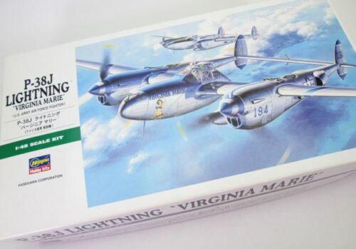 Hasegawa 1//48 US Army P-38J Blitz Virginia Plastik JT1 Marie