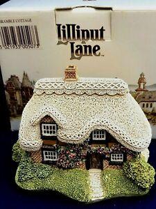 1990-Lilliput-Lane-Bramble-Cottage-con-caja-y-escritura-507-Nuevo-En-Caja