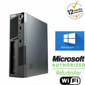 SUPER-VELOCE-Windows-10-PC-Desktop-Lenovo-ThinkCentre-4GB-250GB-USFF-Ufficio