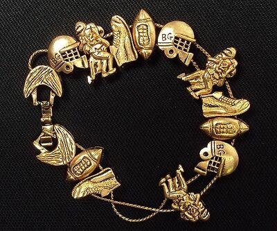 Sun /& Moon Theme Classic TOFA 1995 Slider ~ Bronze Tone #5430140 Charm Bracelet