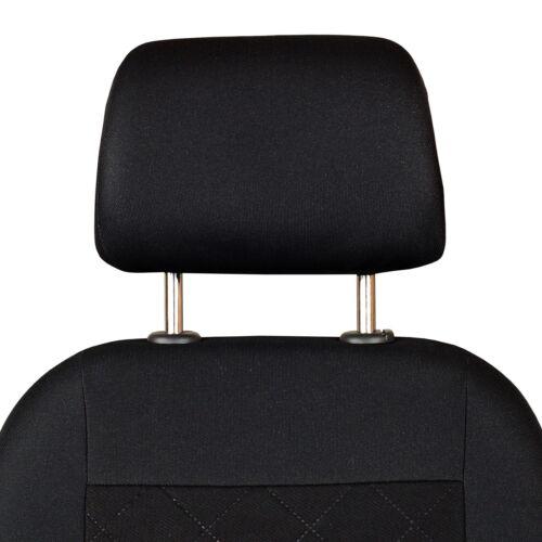 Negro Fundas de Asientos para Toyota Hilux Cubierta de Asiento de Coche Delant.