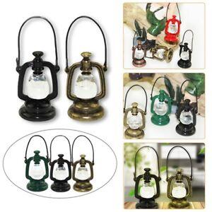 1:6/1:12 Dollhouse Miniature Oil Lamp Mini Gas Lamp Model DIY Toy Bar Cafe Decor