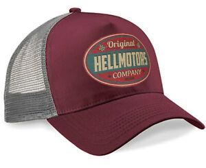 Hellmotors Nashville Baseball Cap Old School Capuchon Hotrod BIKER US CAR v8 Marron