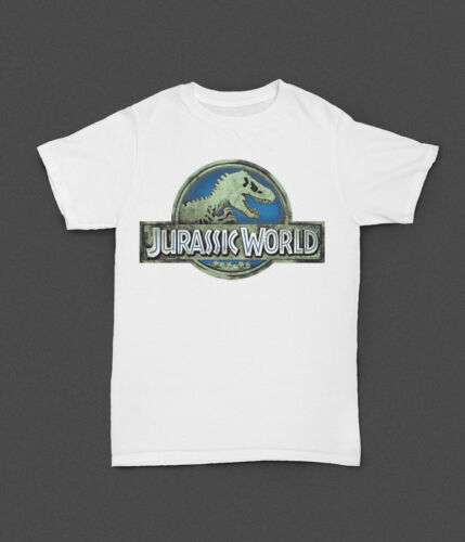 Boy Quality T-shirt Jurassic World Retro Dinosaur Movie Kids