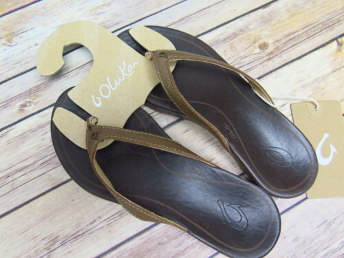 Ladies Olukai Hiona Bronze Leather Sandal  *20287-8148