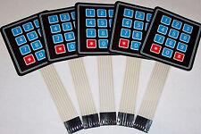 5 PCS 4x3 Matrix Array 12 Key Membrane Switch Keypad,Arduino/AVR/PIC USA SHIP !