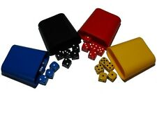 Mixed Dice Set with 4 Shakers, (six sided), 16mm , D6