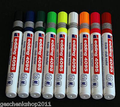 EDDING Kreidemarker 4095 Flüssigkreide 9 Farben frei wählbar