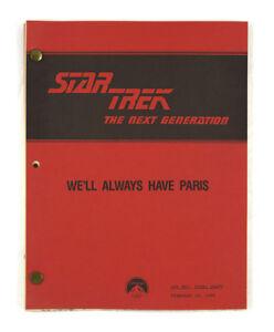 034-We-039-ll-Always-Have-Paris-034-Star-Trek-The-Next-Generation-Original-Script