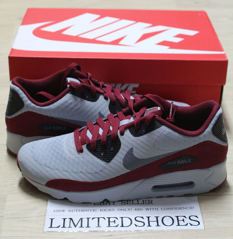 NIKE AIR AIR AIR MAX 90 ULTRA ESSENTIAL WOLF GREY DARK BLACK RED 819474-012 infrared og 2a0240