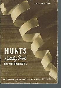 NB-037 - Hunt's Catalog No 16 Woodworking, Stanley Tools, mouldings, etc, illust