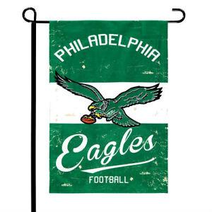 Philadelphia-Eagles-12-5-034-x-18-034-Vintage-Linen-Garden-Flag