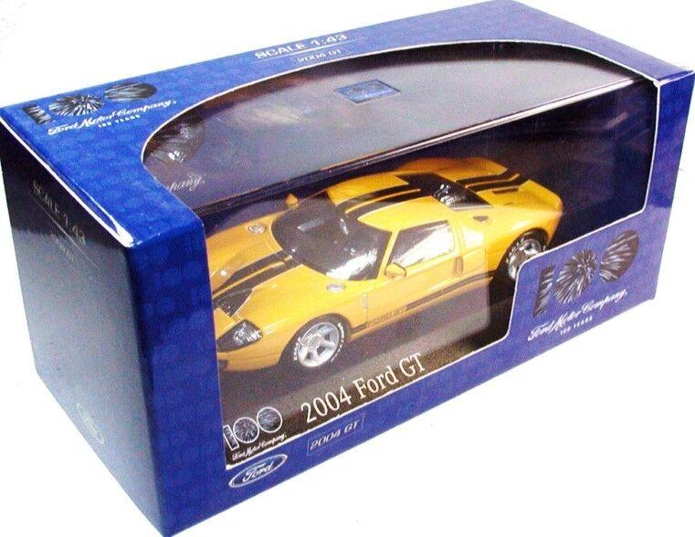 RARE MINICHAMPS 2004 FORD GT SUPERCAR ARANCIONE & NERO PROMO di 100 anni 1 43