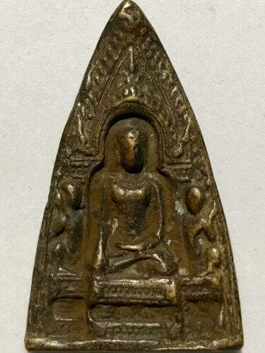 PHRA TREKAY LP RARE OLD THAI BUDDHA AMULET PENDANT MAGIC ANCIENT IDOL#16