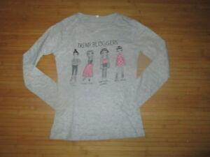 Tee-shirt-gris-a-motif-ML-T9-10ans-enTBE