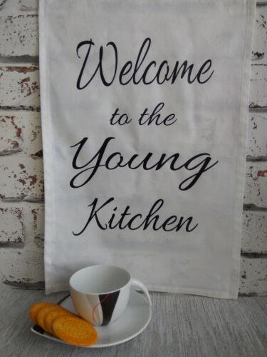 Thé Serviette Personnalisé En Coton Blanc Tissu Cuisine Décoration Maison Neuve Cadeau