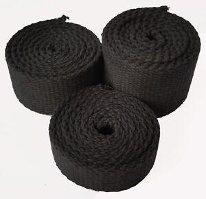 25 mm black canvas webbing belting strap bag making thick quality