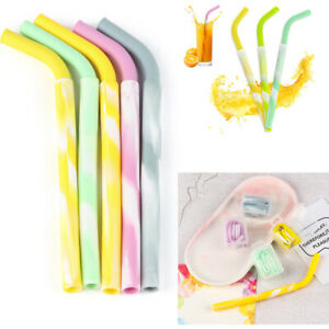 colorful-Juice-Beverage-Reusable-Travel-Straight-Silicone-Drinking-Straw-Pipes