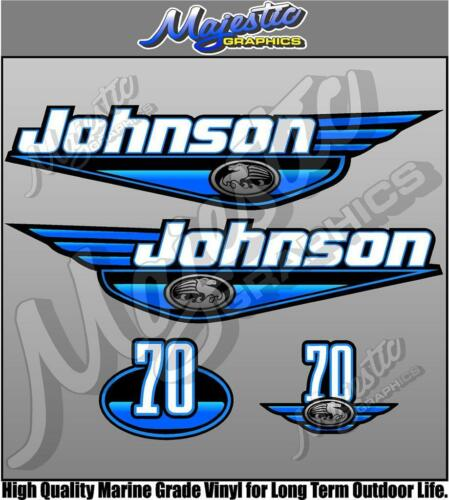 OUTBOARD DECALS BLUE 70hp JOHNSON