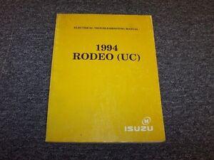 details about 1994 isuzu rodeo suv electrical wiring diagrams manual book s ls 2 6l 3 1l v6 isuzu hombre wiring diagram 1994 isuzu rodeo wiring diagram #8