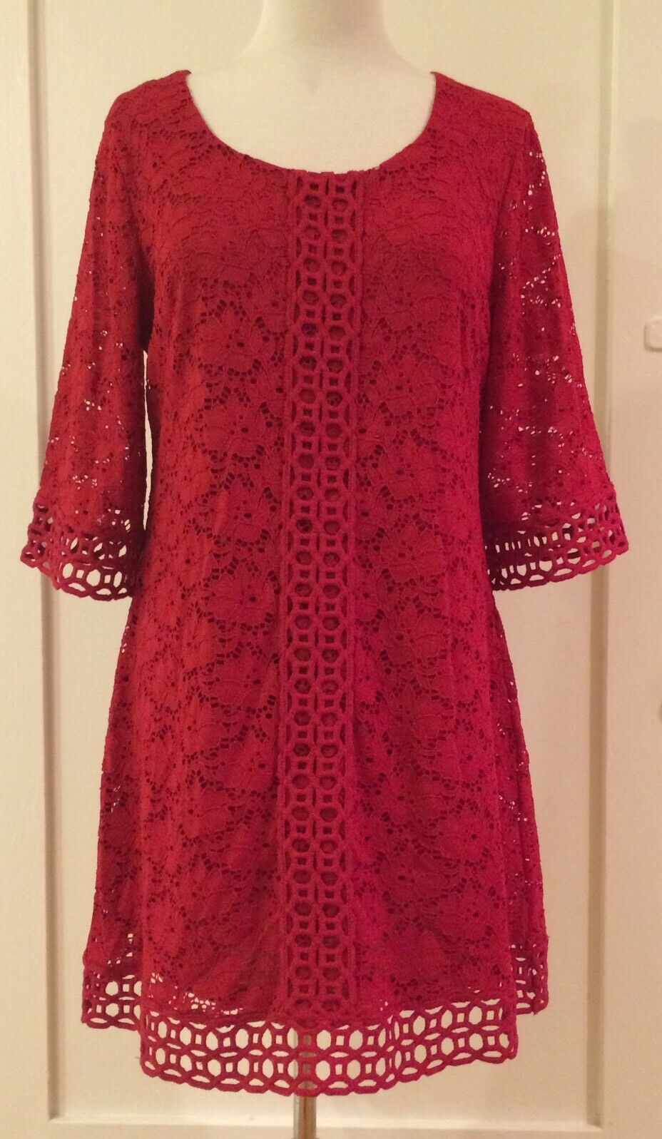 Alfani Petite Evening Cocktail Knee Length Sexy Dress rot PS  NWT