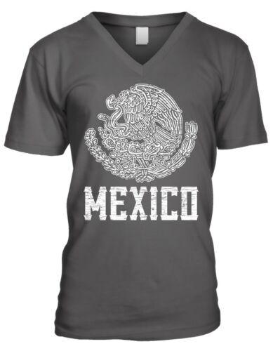 Mexico Coat of Arms Mexican Pride Estados Unidos Mexicanos Mens V-neck T-shirt