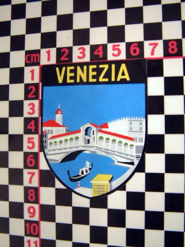 Italian Classic Car Period Detail Decal Adesivo Venice Italy Holiday Sticker