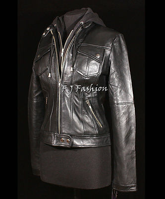 Real Leather Collarless Jacket for Women Tailored Cut Slim Fit Lola Green