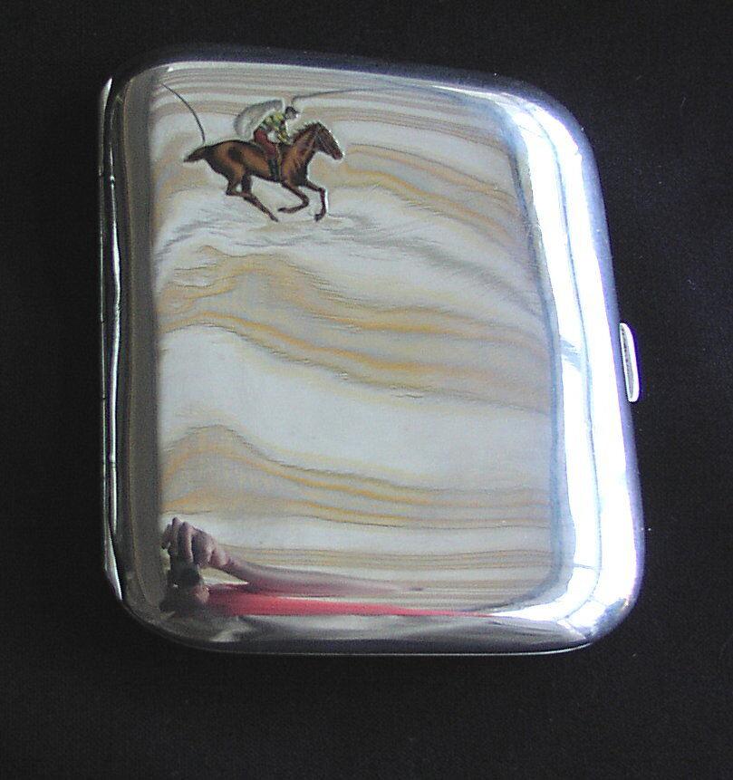Vieja cigarrillos lata de plata 900 email para 1900 plata Case Box