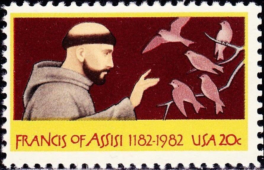 1982 20c St. Francis of Assisi, Friar Scott 2023 Mint F