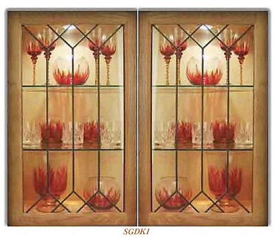 Custom Leaded Glass Kitchen Door Inserts For New Existing Cabinets Ebay