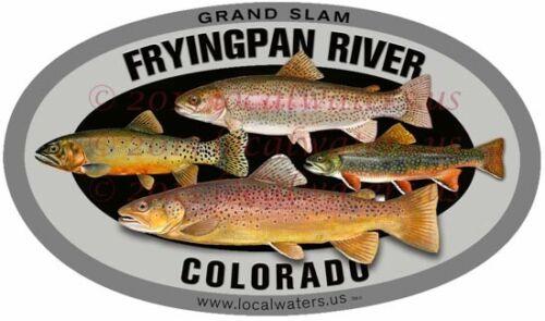 Fryingpan River Grandslam Trout Sticker Fishing DecalGUARANTEED 3 years no fade