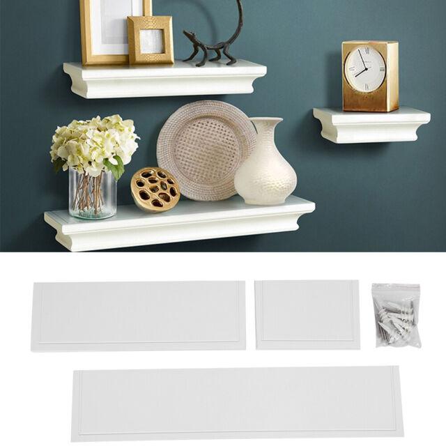 Wall Mount Shelf Set Of 3 Floating Display Storage Home Decor Shelves Furniture
