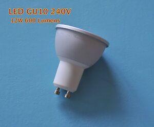 10w 12w Gu10 Cob Led Light Bulb Dimmable Or Non Dim Brighter Than 50w Halogen Ebay