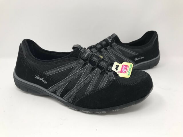 New! Women's Skechers Conversations 22551 Charming Fashion Shoe - Black/Grey G43