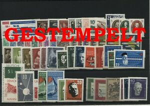 Germany-GDR-vintage-yearset-Complete-1957-Postmarked-Used-complete-Complete