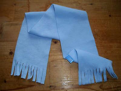 Inteligente Sciarpa Azzurro Per Ragazzi Con Frange Lunghezza: 90 Cm-mai Indossato-mostra Il Titolo Originale