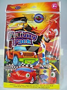 Activity Pack with Cars Design Kids Activity Books with Pencils UK