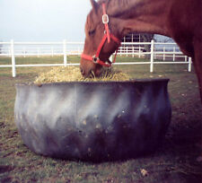 1 Rubber Horse Hay Feeder recycled from rear tractor tire FREE Shipping**