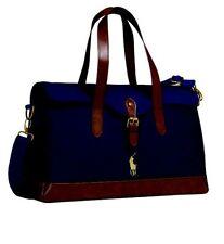 Nuovo di Zecca originale Ralph Lauren Polo Borsa A Tracolla Borsone Viaggio Borsa Custodia Navy & Brown