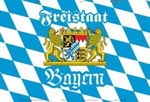 Estado-Libre-de-Baviera-Escudo-Letrero-de-Metal-Arqueado-Metal-Tin-Sign