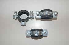 3 Stück  Schraubrohrschellen,136-139mm,verzinkt,mit Gummieinlage,M10 Anschluß