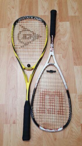 Dunlop Unisexe Blackstorm Surge Ti Squash Raquette Graphite 140 g + Wilson N Code